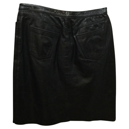Max Mara skirt black leather