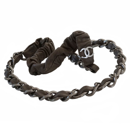 Chanel Leather headband with chain