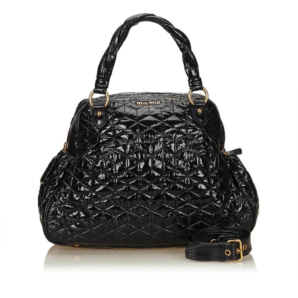 Miu Miu Quilted Patent Leather Handbag - Buy Second hand Miu Miu ... : miu miu quilted bag - Adamdwight.com