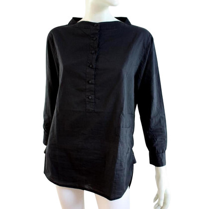 Rika Black cotton blouse