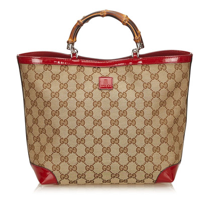 Gucci Tote Bag with bamboo handle