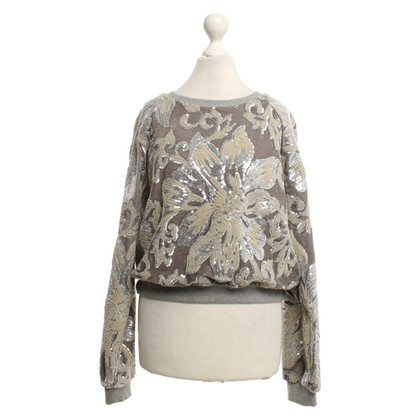 Twin-Set Simona Barbieri Velvet sweater with sequins