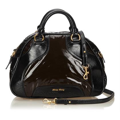 Miu Miu Leather Trimmed Handbag