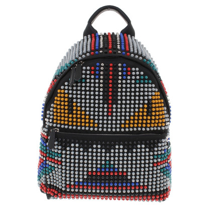 "Fendi zaino ""Monster"" con rivetti colorati"