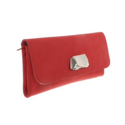 Acne Clutch in Rot
