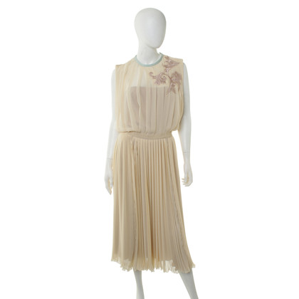 Aquilano Rimondi Pleated dress in cream