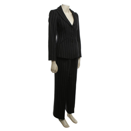 Armani Collezioni Trouser suit with chalk stripes