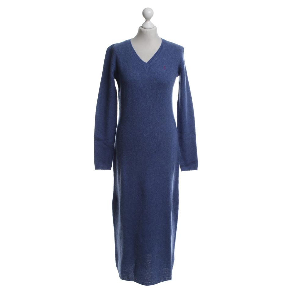 Ralph Lauren Robe en laine en bleu