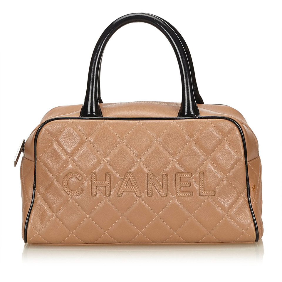 chanel sac main en cuir avec point logo acheter chanel. Black Bedroom Furniture Sets. Home Design Ideas