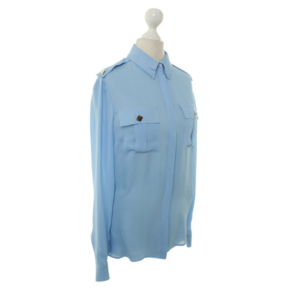 Versace Silk blouse in pale blue