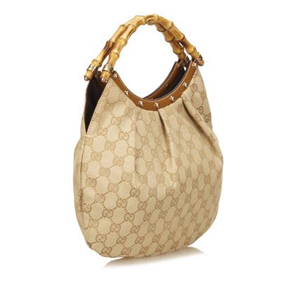 Gucci Jacquard Bamboo Handbag
