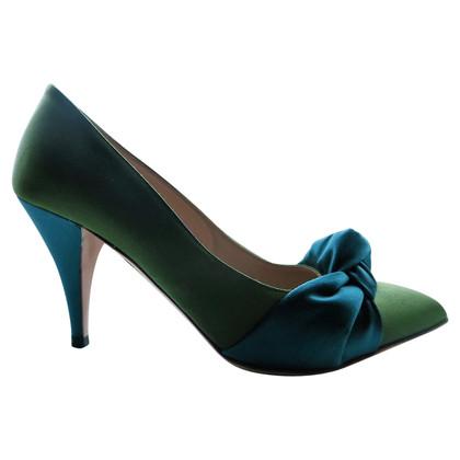 Charlotte Olympia pumps raso verde