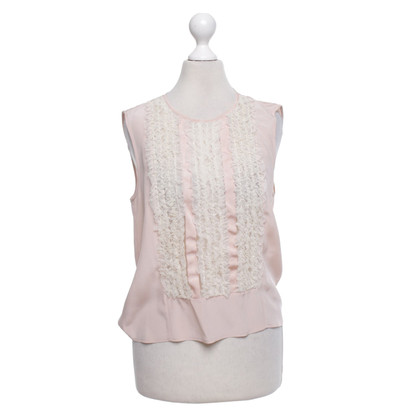 Red Valentino Blusen-Top in Rosa/Creme