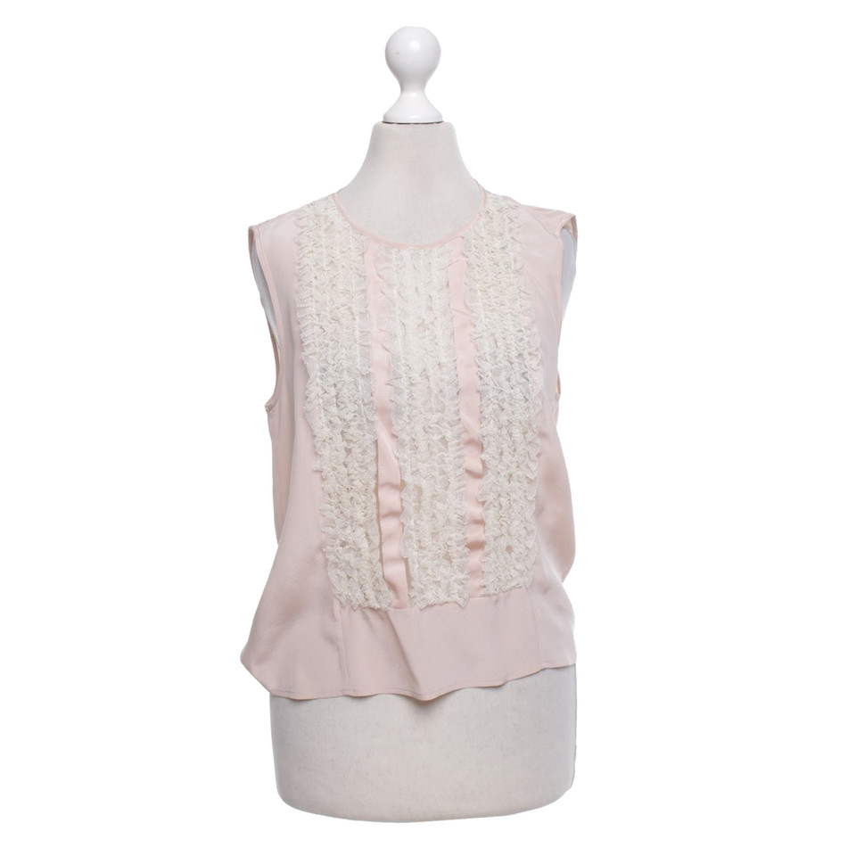 Red Valentino Blouse Top in roze / creme