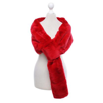 Laurèl Coniglio stola di pelliccia in rosso