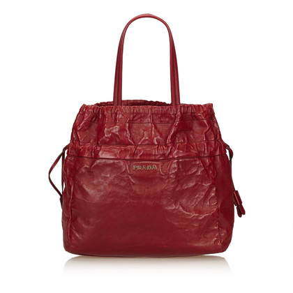 Prada Leren Tote Bag