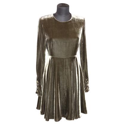 Sport Max Fluwelen jurk in donkergroen