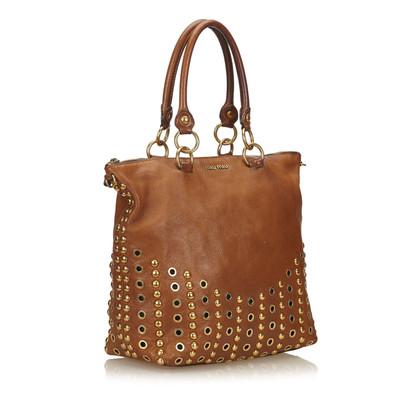 Miu Miu Leather handbag with studs