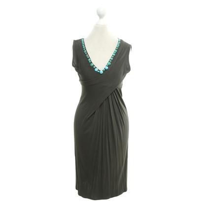 Blumarine Kleid in Khaki/Türkis