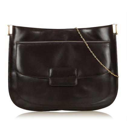 Gucci Leather Chain Shoulder Bag