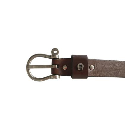 Aigner Vintage leather belt