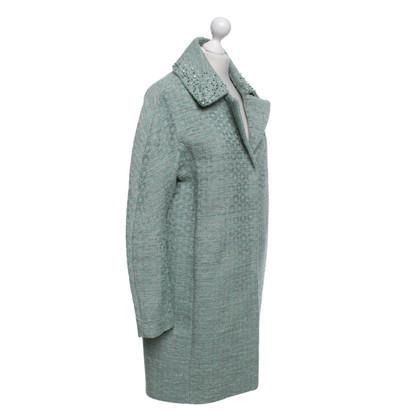Steffen Schraut manteau vert menthe avec des motifs