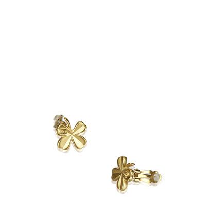 Chanel Clip earrings with shamrock motif