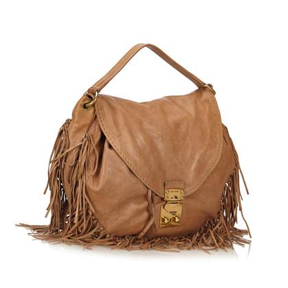 "Miu Miu ""2 Way Leather Fringe Hobo Bag"""