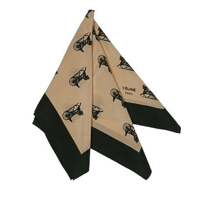 Céline Printed silk scarf