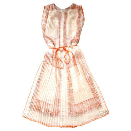 Chloé Seidenkleid mit Muster