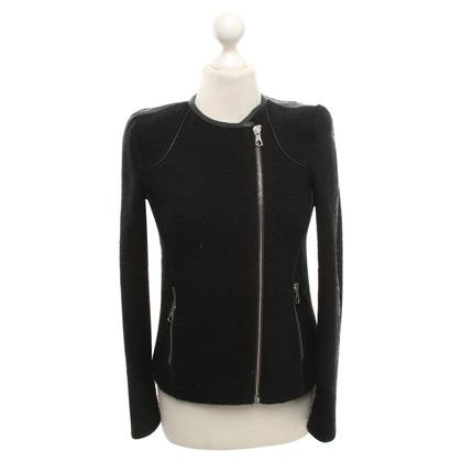 Set Bouclé jacket in black