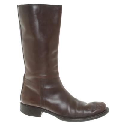 Prada Boots in donkerbruin