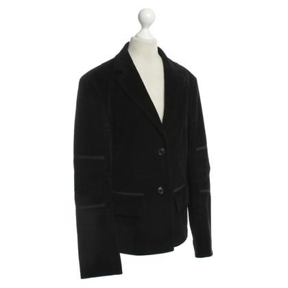 Strenesse Blue Corduroy Blazer in black