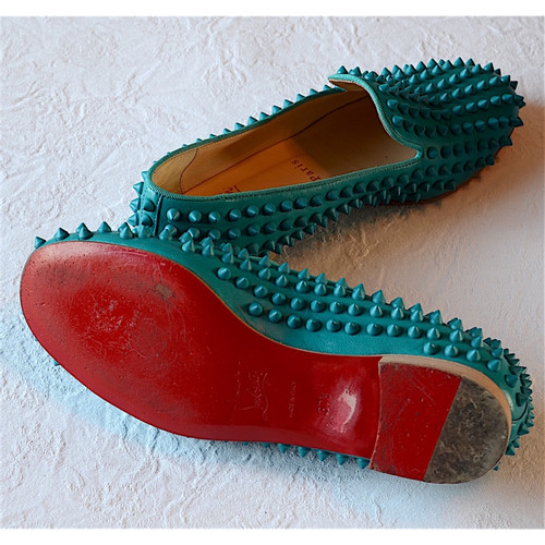 df2e024b83a Christian Louboutin Slippers with studs - Second Hand Christian ...