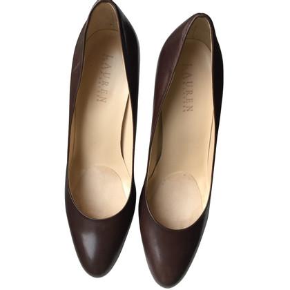 Ralph Lauren brown leather pumps (39)