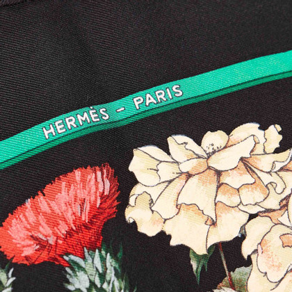 Hermès Gedrukt zijden sjaal