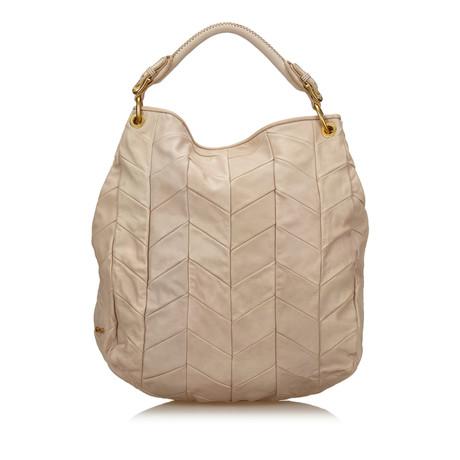 Miu Miu Tote Bag Beige Sammlungen Online-Verkauf 0tl7a
