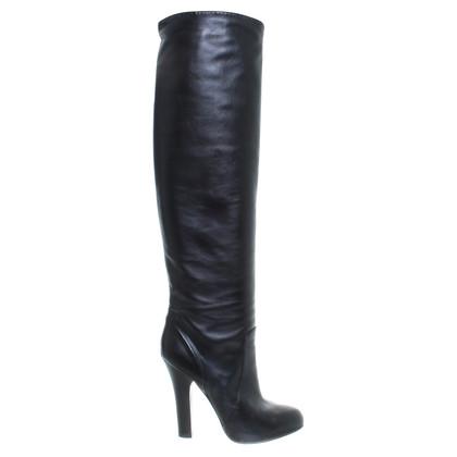 Dolce & Gabbana Stiefel aus schwarzem Leder