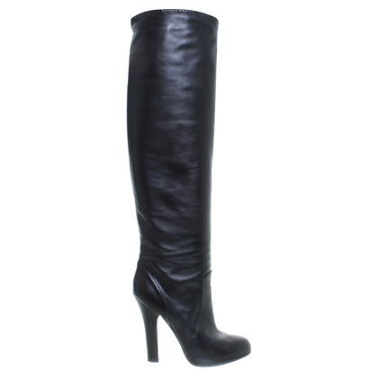 Dolce & Gabbana Zwarte leren laarzen