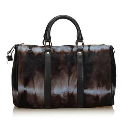 Christian Dior Handbag with pony fur trim