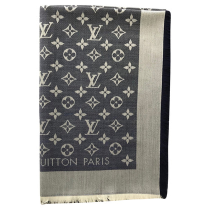 Louis Vuitton Monogram-Denim-Tuch in Blau