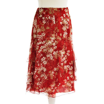 Valentino Floral skirt with flounces