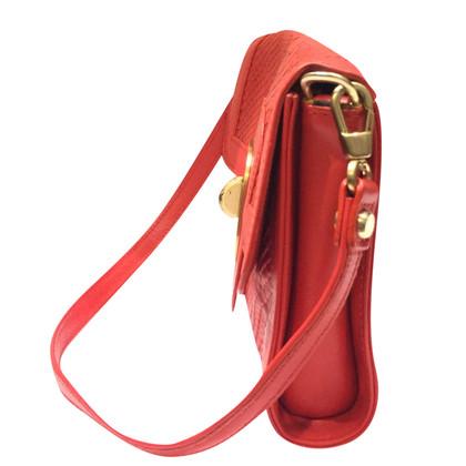 Longchamp Rote Lederhandtasche