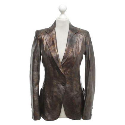 Hugo Boss Leather jacket in metallic look