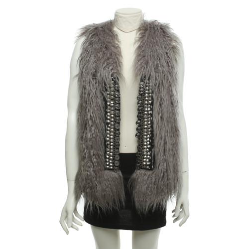 4ab6583bc353 Rich   Royal Faux fur vest in grey - Second Hand Rich   Royal Faux ...