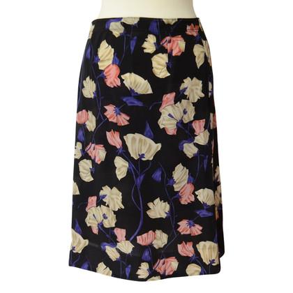 Prada Zijden rok met bloemenprint