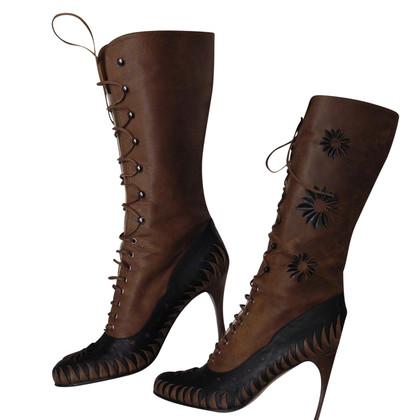 Christian Dior leren laarzen