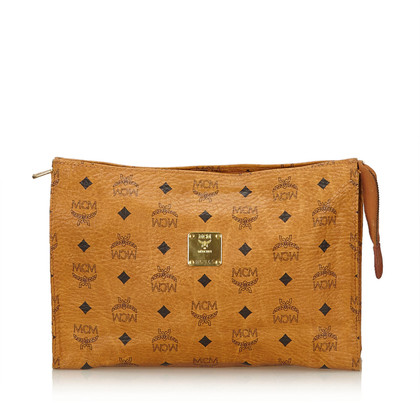 MCM Visetos Leather Clutch