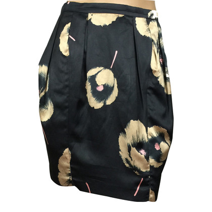 Moschino Cheap and Chic Floral silk skirt