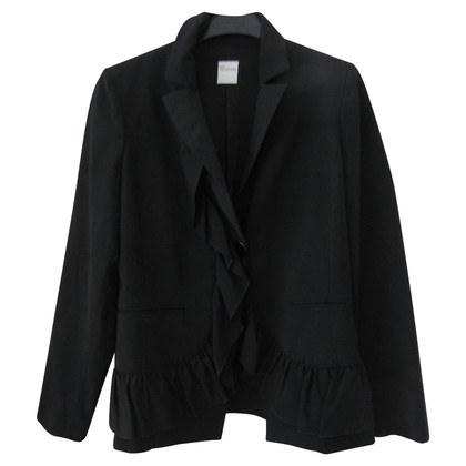 Red Valentino Black blazer with frills